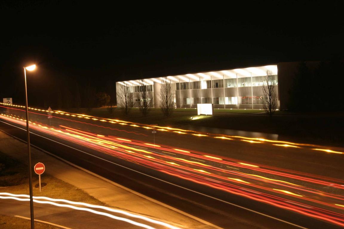 Vision de nuit du parc technologique de Vendôme