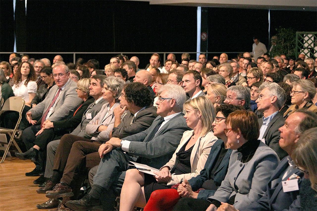 Les patrons et employés d'entreprises durant l'évènement