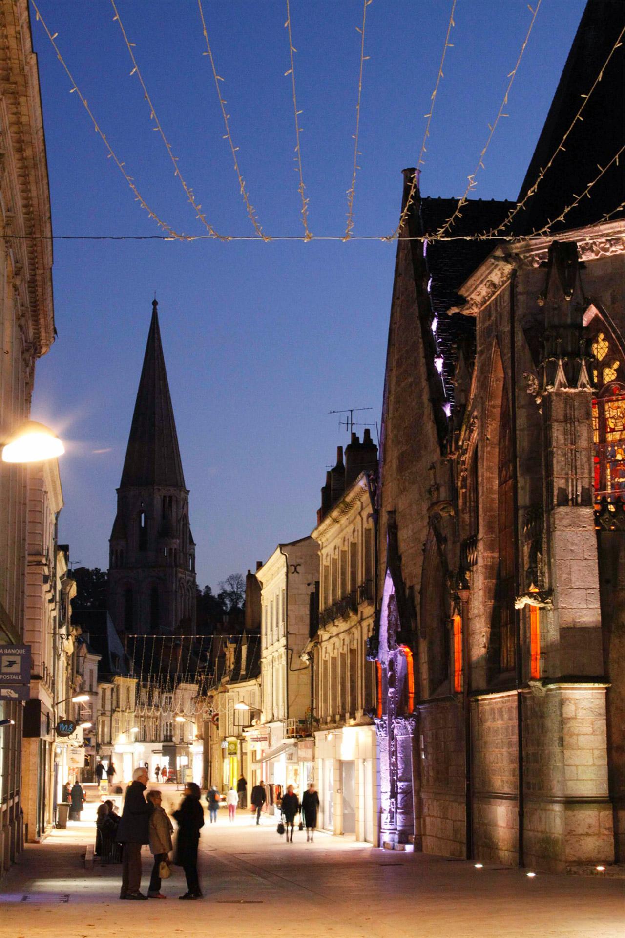 La rue du Change dans le bourg de Vendôme